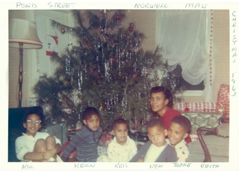 Jyoti and family CHristmas 1963
